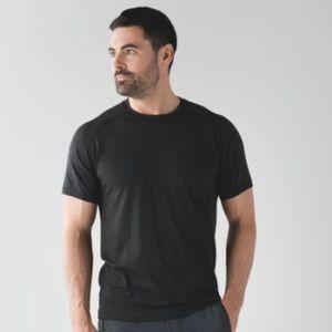 Lululemon men shirt Metal Vent Tech sz L black  SS